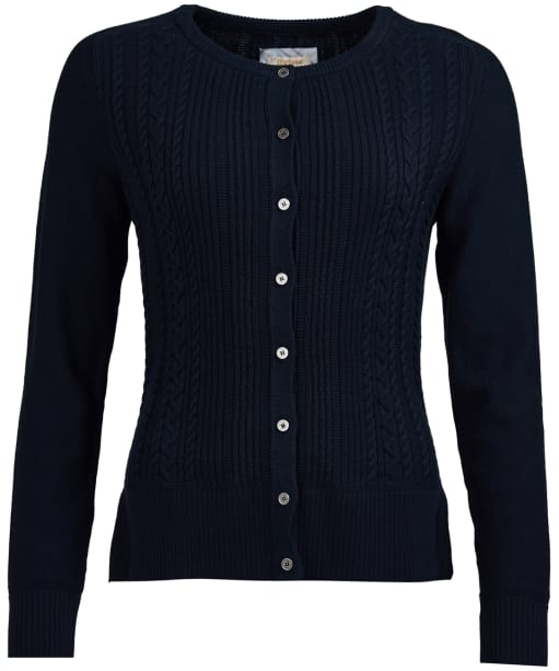 Women's Barbour Causeway Knitted Cardigan - Navy