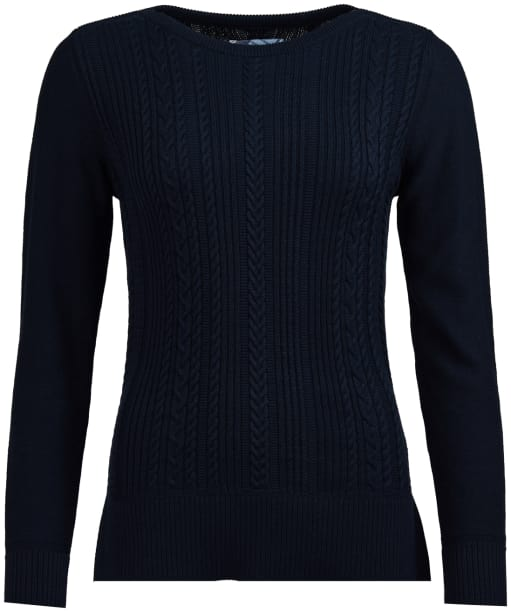 Women's Barbour Hampton Knitted Sweater - Navy