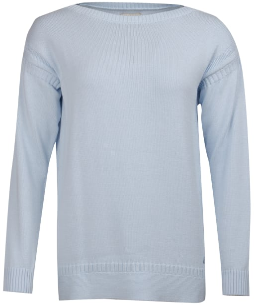 Women's Barbour Sailboat Knitted Sweater - Powder Blue