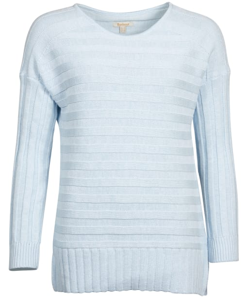 Women's Barbour Portsdown Knit Sweater - Powder Blue Marl