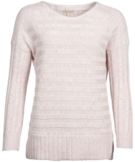 Women's Barbour Portsdown Knit Sweater  - Off White / Pink Marl