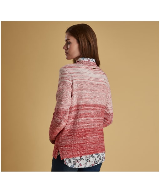 Women's Barbour Damselfly Knitted Sweater - Pomegranate