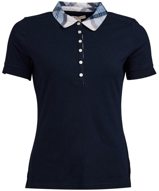 Women's Barbour Malvern Polo Shirt - Navy