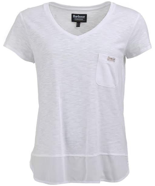 Women's Barbour International Division Top - White
