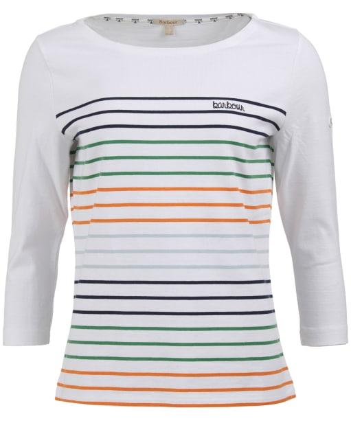 Women's Barbour Littlehampton Top - White Stripe
