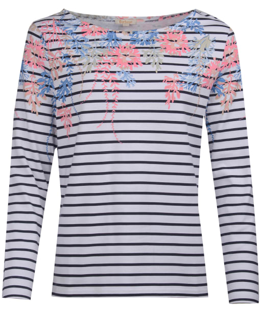 Women's Barbour Seaglow Top - White / Navy