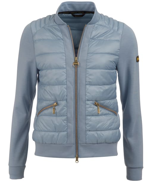 Women's Barbour International Whitham Sweater Jacket - Ice Blue
