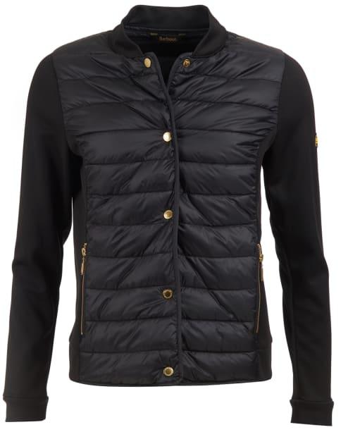 Women's Barbour International Hurdle Sweater Jacket - Black