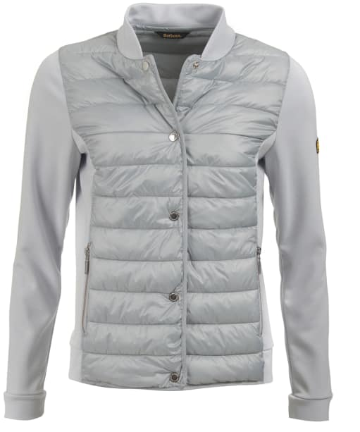 Women's Barbour International Hurdle Sweater Jacket - Ice White