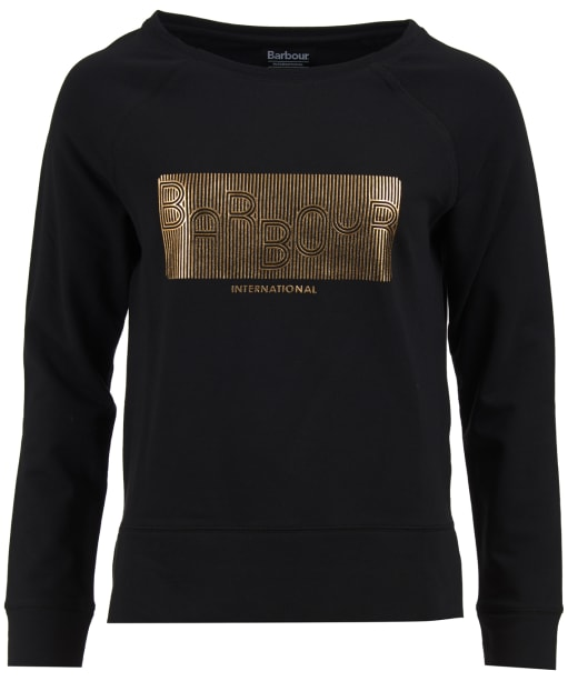 Women's Barbour International Pitch Overlayer Sweatshirt - Black