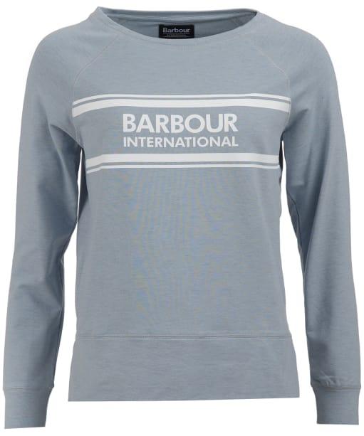Women's Barbour International Pitch Overlayer Sweatshirt - Ice Blue