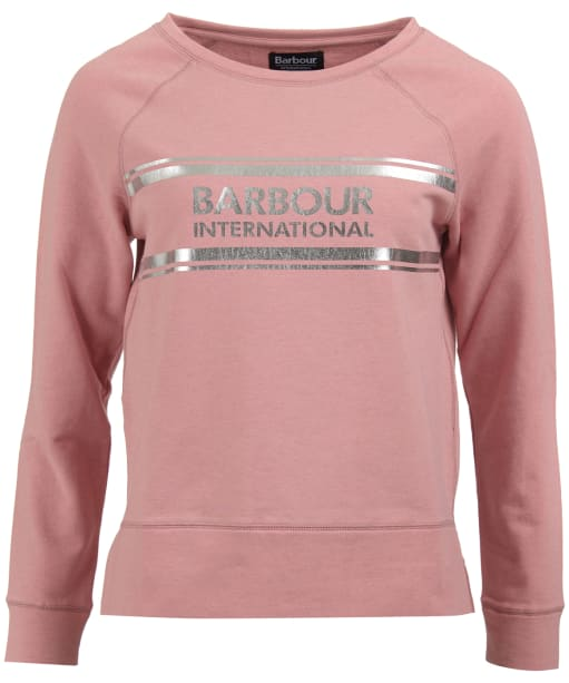 Women's Barbour International Pitch Overlayer Sweatshirt - Rose