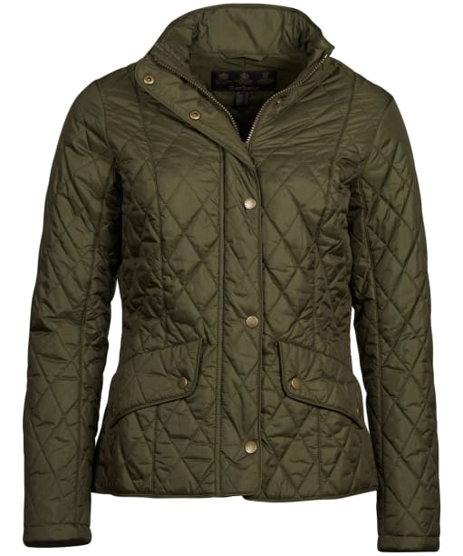 Women's Barbour Flyweight Cavalry Quilted Jacket - Olive