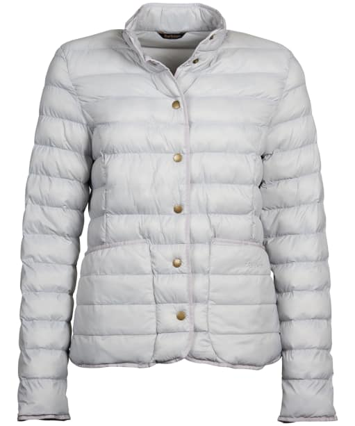 Women's Barbour Hollybush Quilted Jacket - Ice White