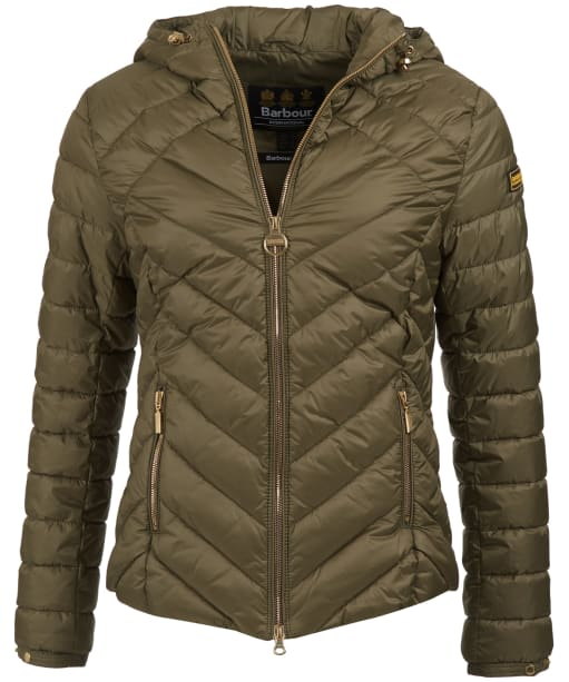 Women's Barbour International Durant Quilted Jacket - Lt Army Green