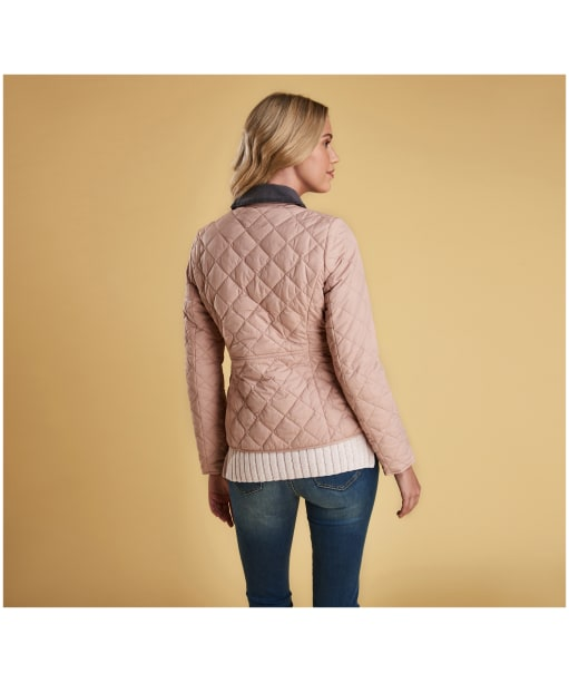 Women's Barbour x Sam Heughan Deveron Quilted Jacket - Pale Pink