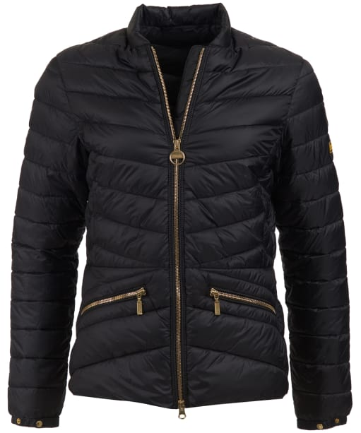 Women's Barbour International Court Quilted Jacket - Black