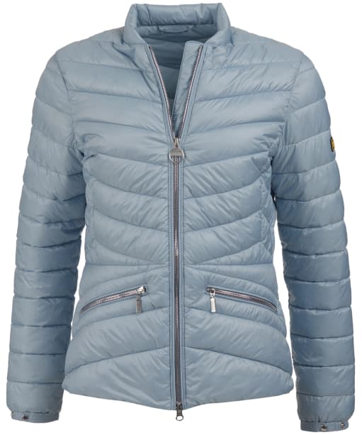 Women's Barbour International Court Quilted Jacket - Ice Blue