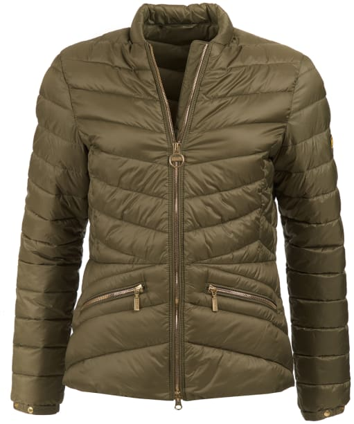 Women's Barbour International Court Quilted Jacket - Lt Army Green