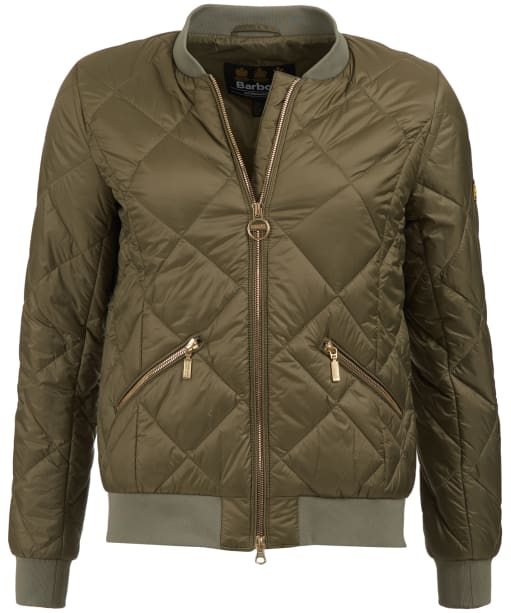 Women's Barbour International Sideline Quilted Jacket - Lt Army Green