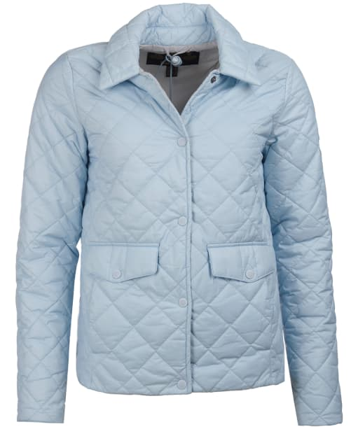 Women's Barbour Overwash Quilted Jacket - Powder Blue