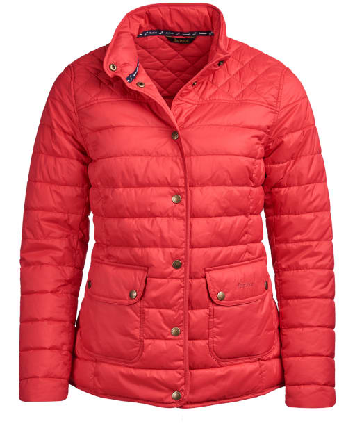 Women's Barbour Coledale Quilted Jacket - Pomegranate