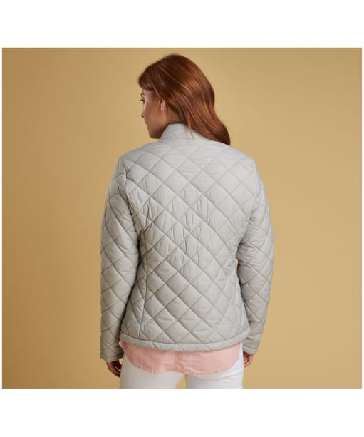 Women's Barbour Lorne Quilted Jacket - Ice White