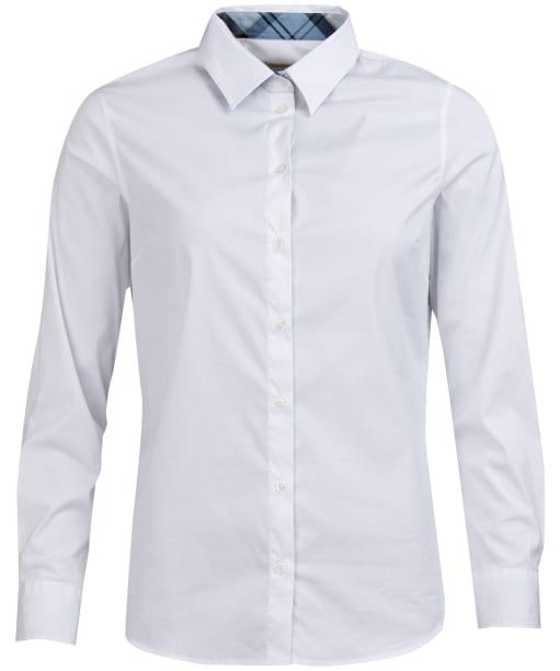 Women's Barbour Malvern Shirt - White