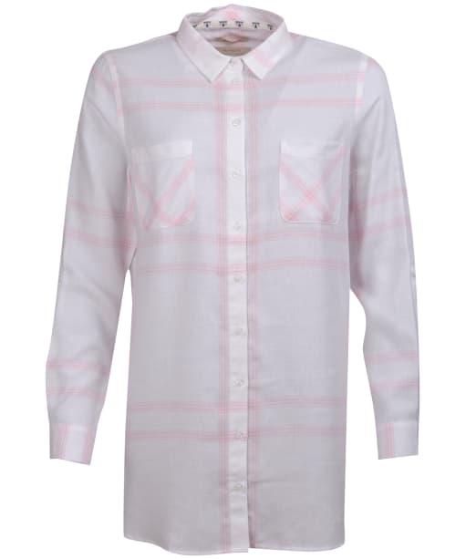 Women's Barbour Baymouth Shirt - White / Pale Rose