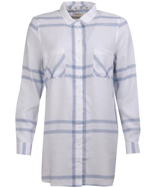 Women's Barbour Baymouth Shirt - White / Breeze Blue