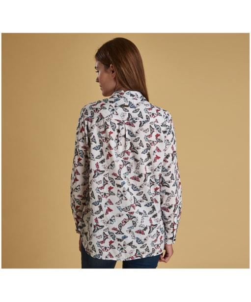 Women's Barbour Bowfell Shirt - White Butterfly