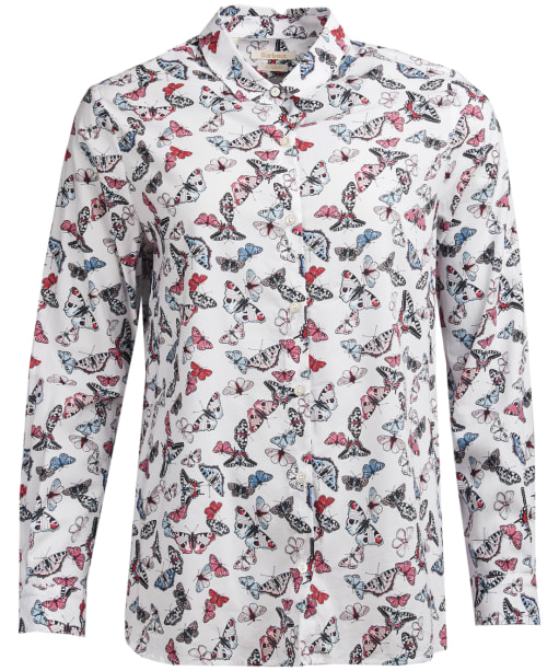 Women's Barbour Bowfell Shirt - White Butterfly