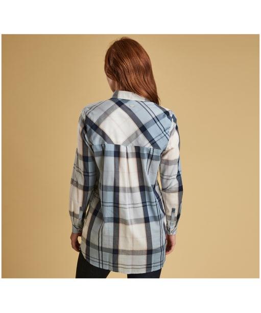 Women's Barbour Ervine Shirt - Fade Blue Tartan