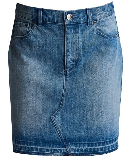 Women's Barbour International League Skirt - Bleach Wash