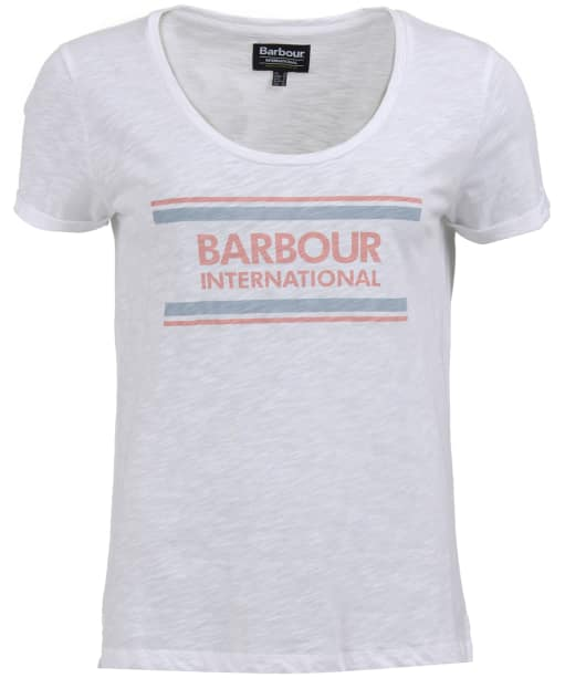 Women's Barbour International Perez Tee - White