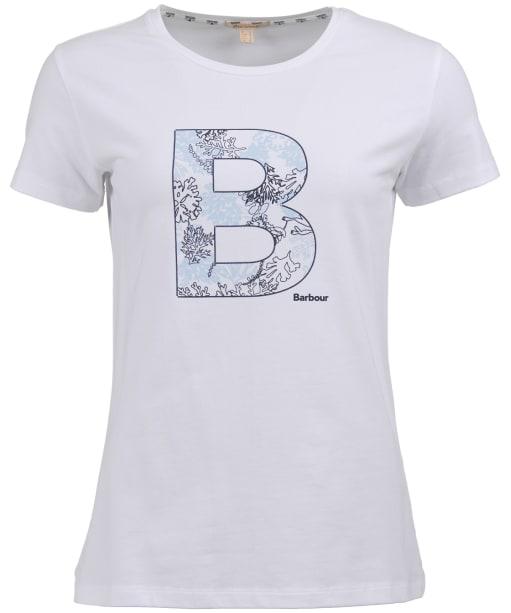 Women's Barbour Backshore Tee - White