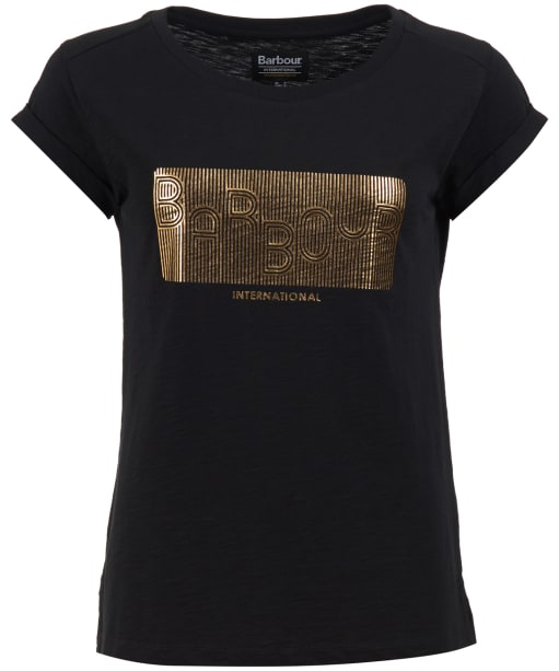 Women's Barbour International Hurdle Tee - Black