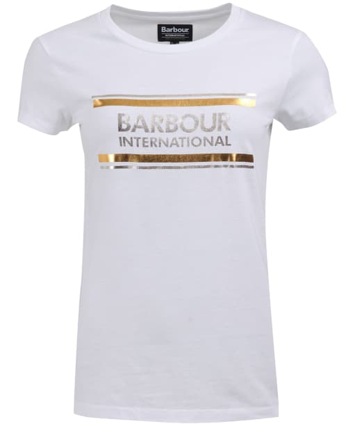 Women's Barbour International Backflag Tee - White