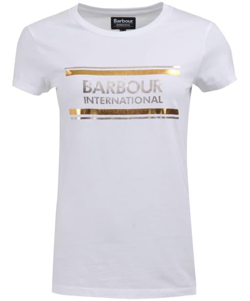 Women's Barbour International Backflag Tee - White