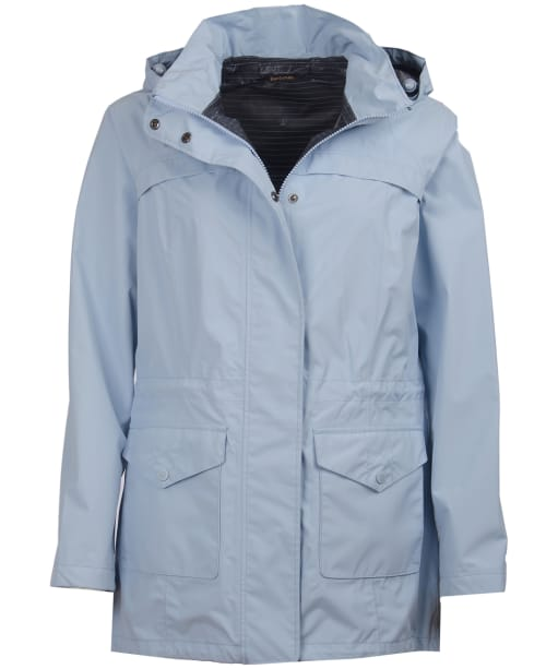 Women's Barbour Dalgetty Waterproof Jacket - Powder Blue