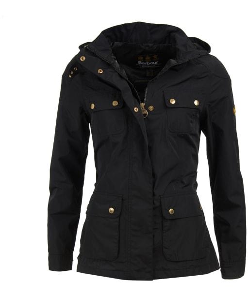 Women's Barbour International Division Waterproof Jacket - Black