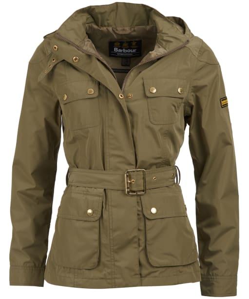 Women's Barbour International Division Waterproof Jacket - Lt Army Green