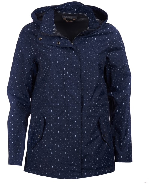 Women's Barbour Windbreaker Waterproof Jacket - Navy Cloud