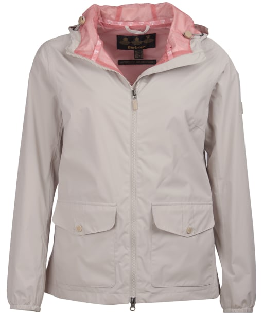 Women's Barbour Abrasion Packaway Waterproof Jacket - Mist