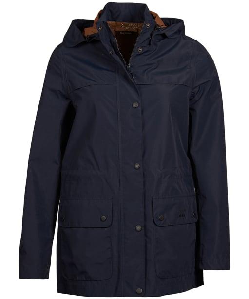 Women's Barbour Drizzel Waterproof Jacket - Navy