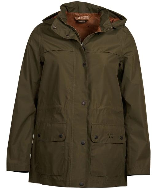 Women's Barbour Drizzel Waterproof Jacket - Olive