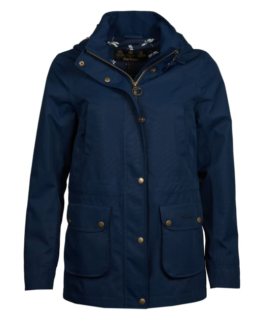 Women's Barbour Stoat Waterproof Jacket - Navy