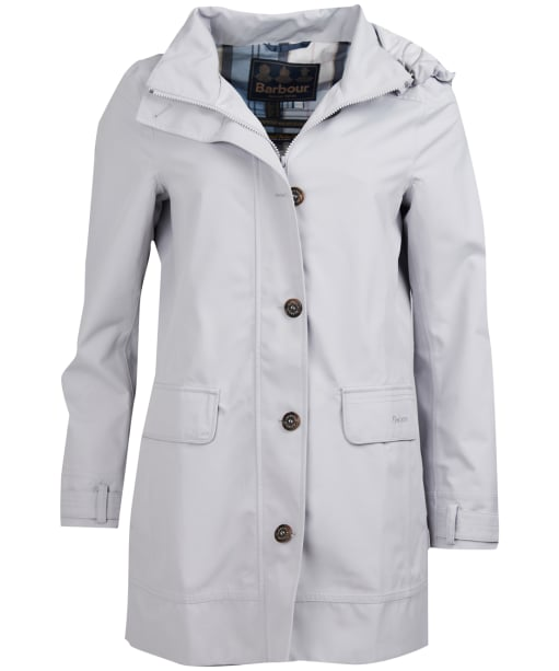 Women's Barbour Backwater Waterproof Jacket - Ice White