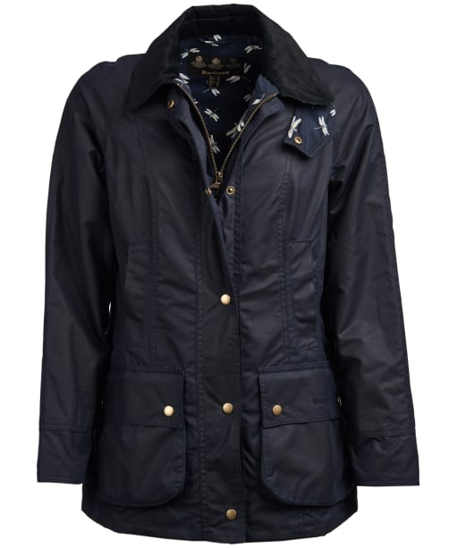 Women's Barbour Monteviot Wax Jacket - New Royal Navy