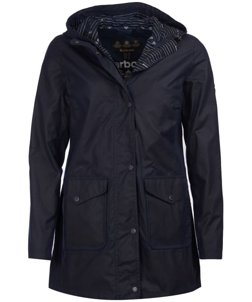 Women's Barbour Seahouse Waxed Jacket - Royal Navy